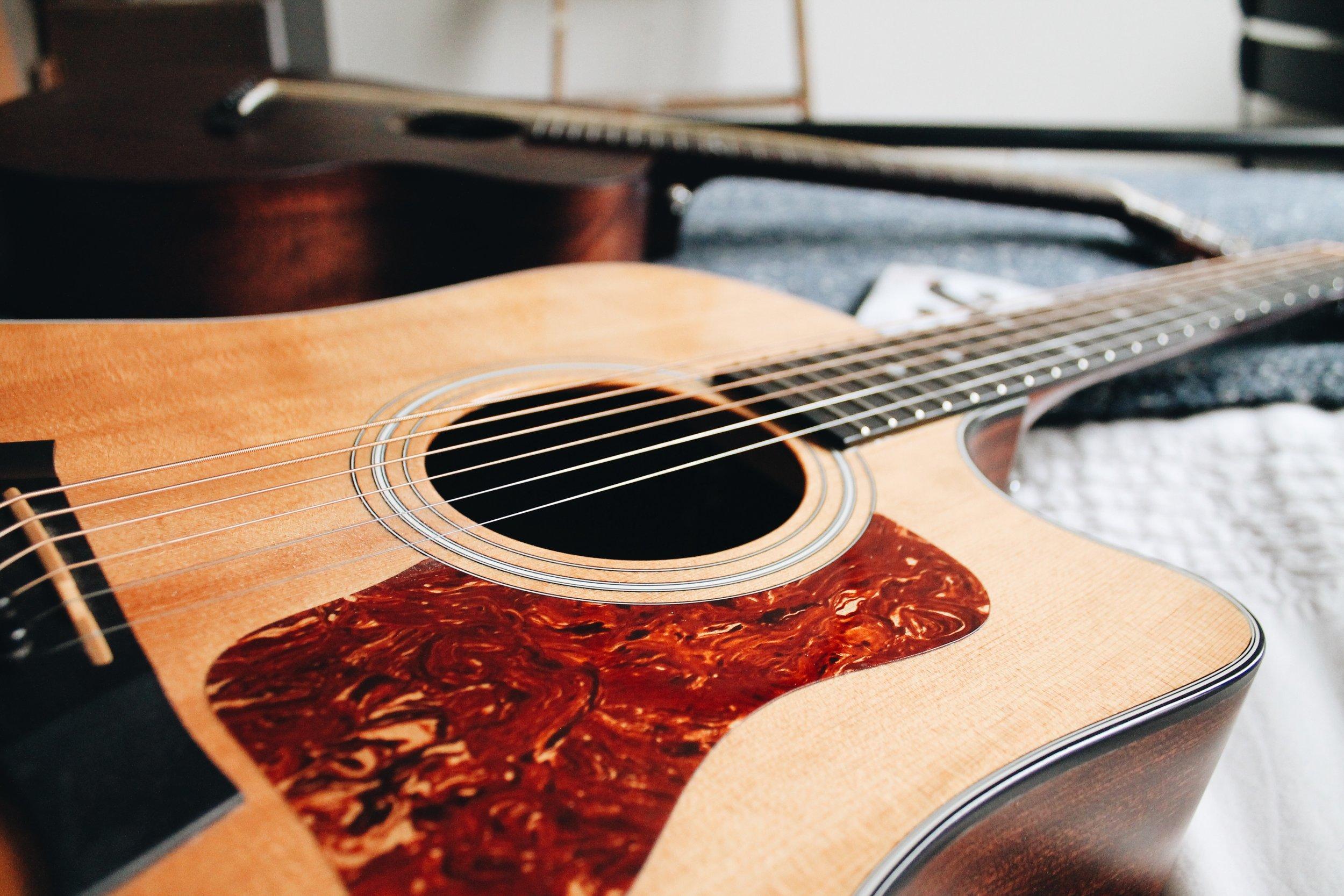Taylor and orangewood guitars