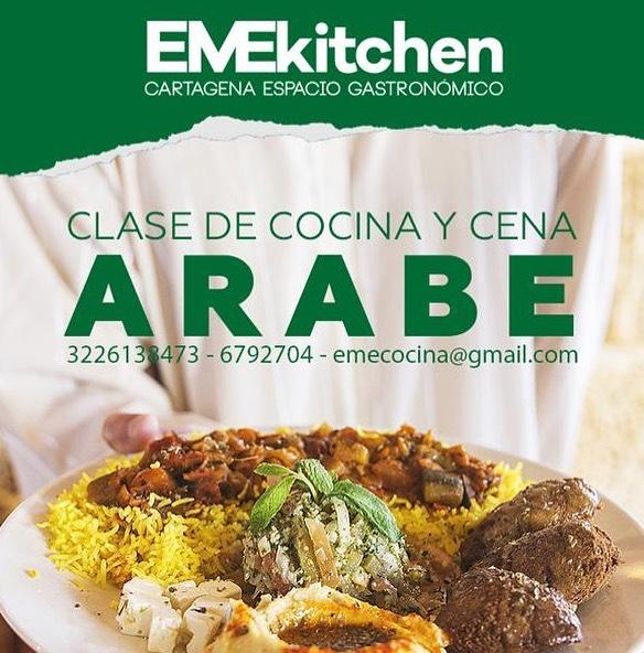La cocina árabe es una de las más ricas a nivel mundial. Esto se debe a que la comida árabe es el conjunto de una gran variedad de gastronomías pertenecientes de Medio Oriente entre los principales encontramos a como las de Turquía, Marruecos, Israel y Líbano, por eso no te puedes perder el super taller que tenemos para ti este viernes 12 de julio con @emelissierra , chef de @emekitchen Inscríbete ya en la línea fija: 6799241 o através del WhatsApp: 3226138473.  Fecha: Viernes 12 de julio Horario: 7:00 p.m. a 10:00 p.m. Profesor: @emelissierra Valor: $100.000 Lugar: Taller @solarcartagena Contenido: Cóctel de bienvenida 🍹  Hummus con tahina (Egipto) Taboulé (Líbano y Siria) Tajín de kefta (Marruecos) Falafel de lentejas (con salsa de yogur y menta) Arroz con pollo árabe Bombones de remolacha y coco(postre)  Gracias a nuestros patrocinadores: @solarcartagena  #emekitchen #tallerdecocina #cocina #cartagena #getsemani #clasesdecocina