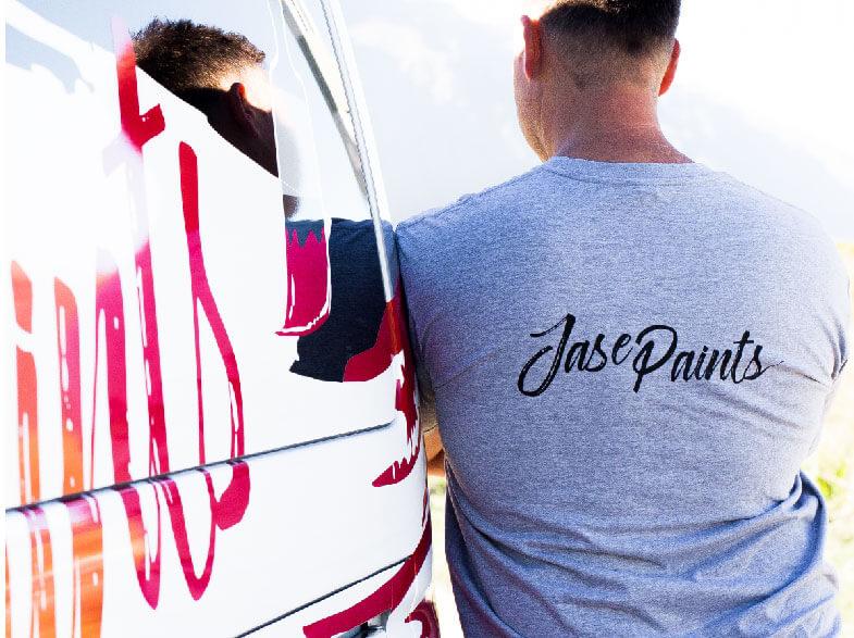 Jase Paints Back