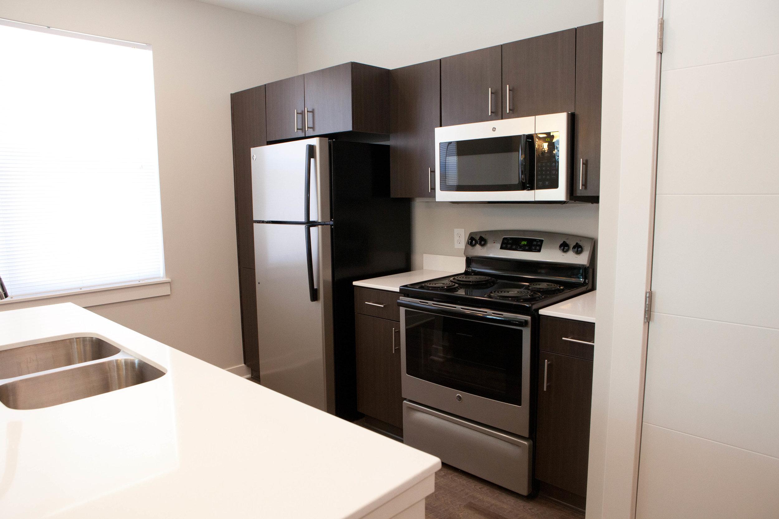 City Flats on Walnut - model kitchen (apartment).JPG
