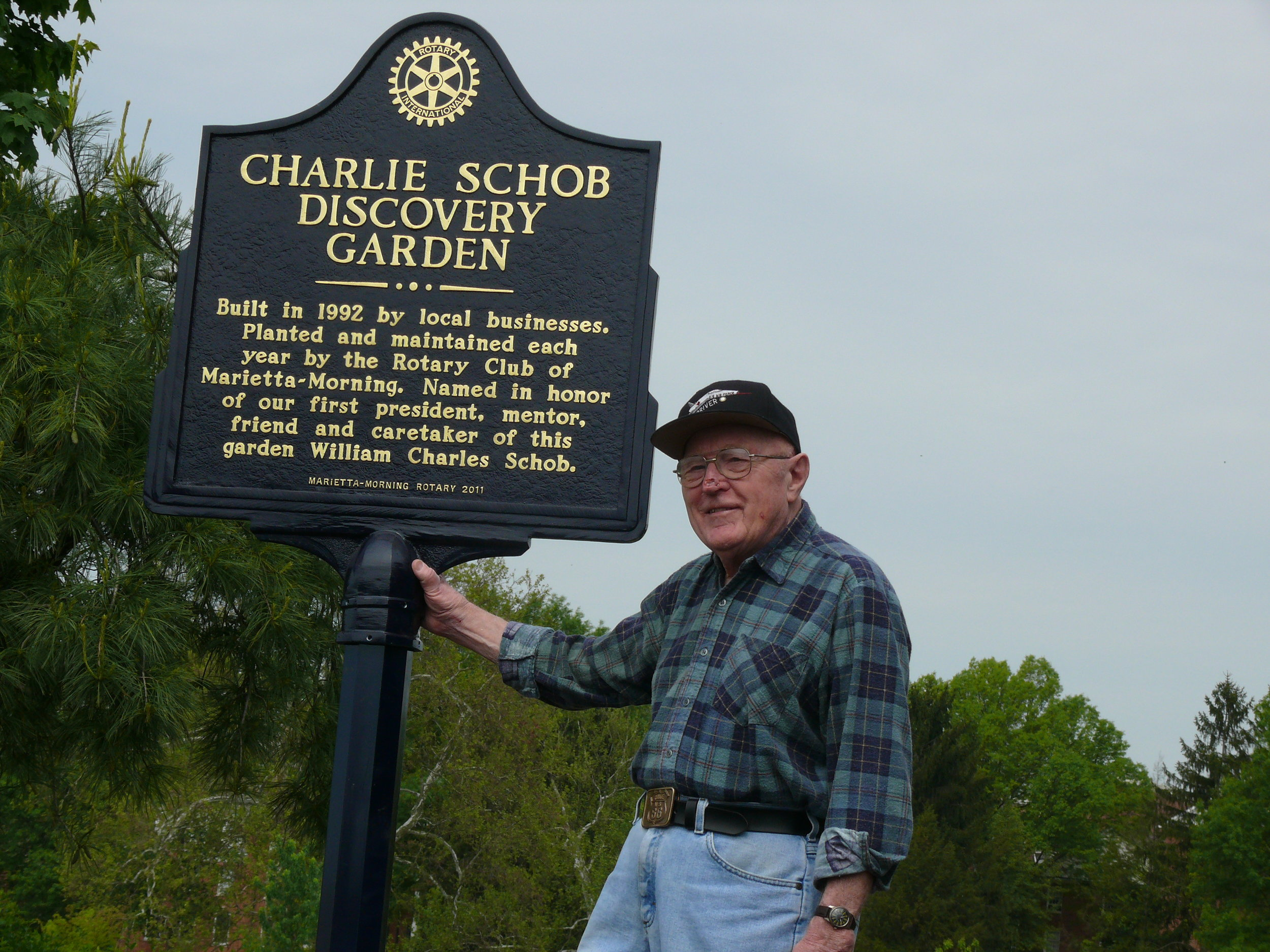 Charlie Schob at the Discovery Garden Dedication