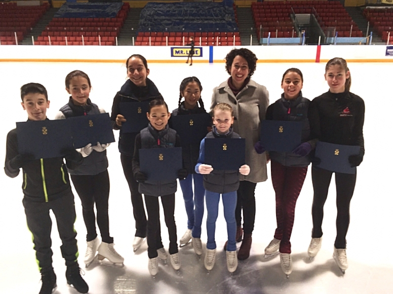 Congratulations to the eight amazing skaters from the Dartmouth Skating Club heading to London, England to compete in March!