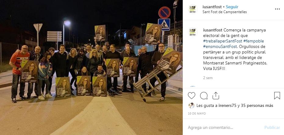Inicio de campaña con los primeros carteles, publicado en la cuenta de Instagram del partido.