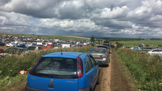 Y NOT? MUSIC FESTIVAL - Some people reported a three-hour wait to get out of the festival site by car