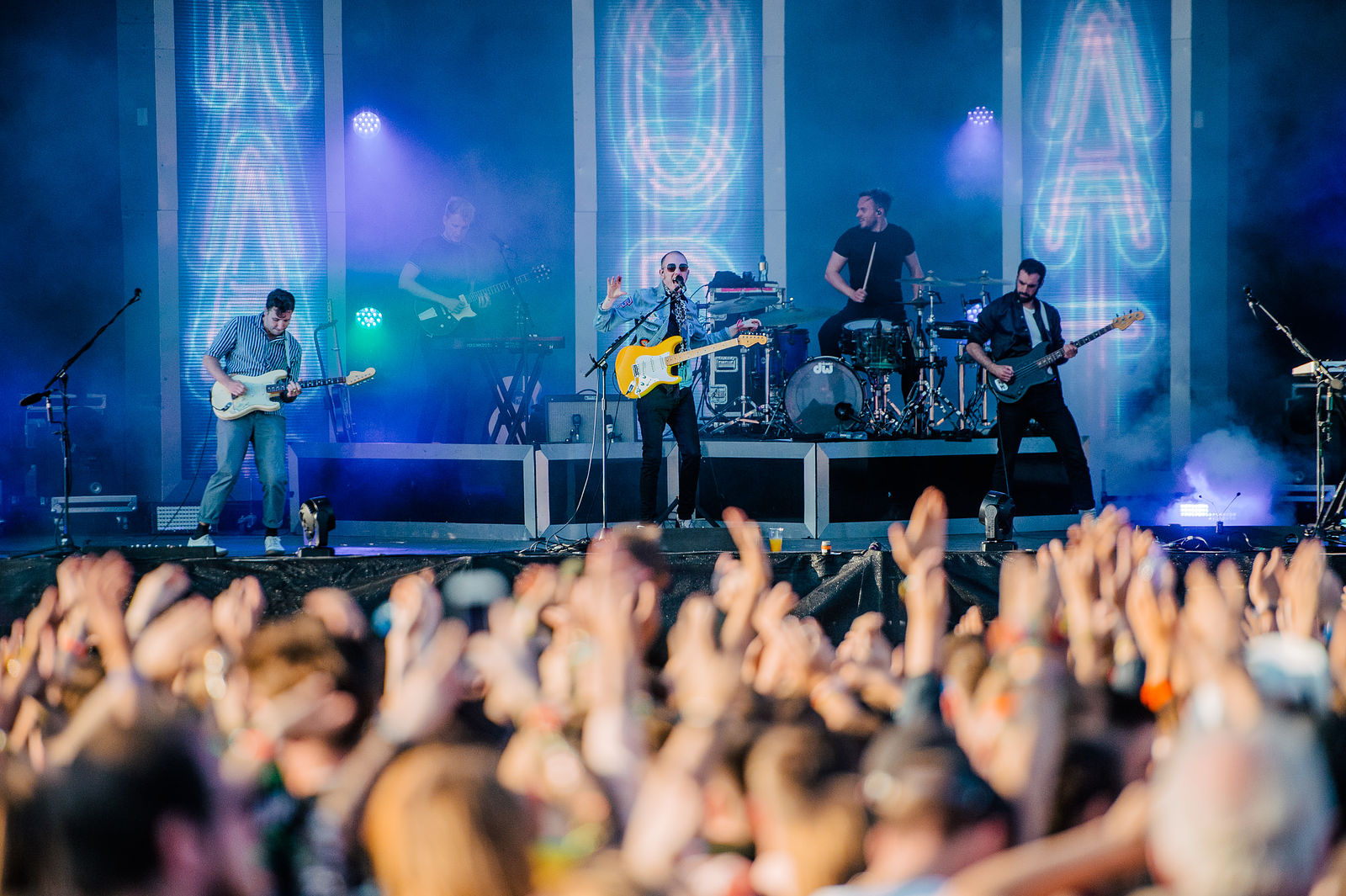 TWO DOOR CINEMA CLUB PERFORMING AT LEEDS FESTIVAL 2017 - 26/08/2017  PICTURE BY: MATT EACHUS PHOTOGRAPHY