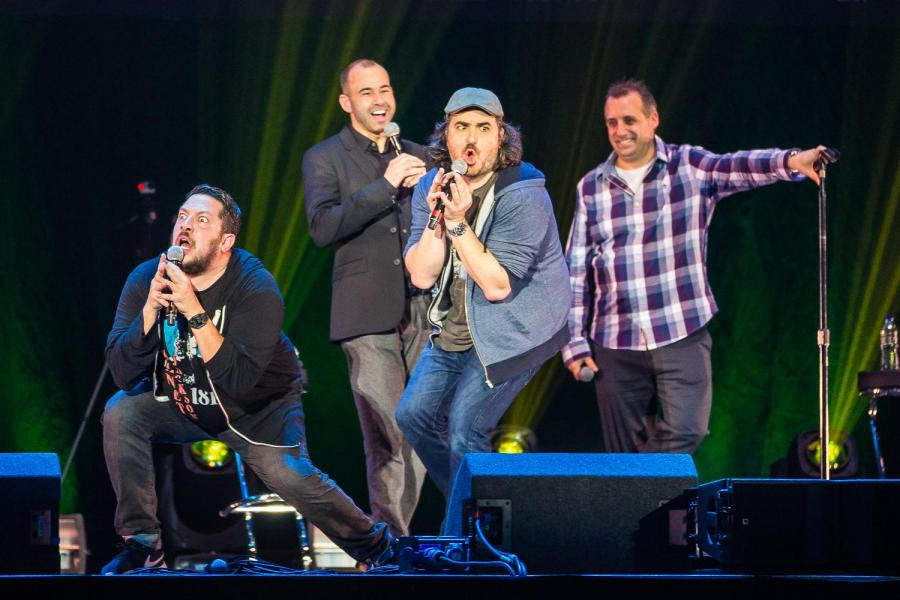 IMPRACTICAL JOKERS PERFORMING ON STAGE  PIC BY: Joe Papeo