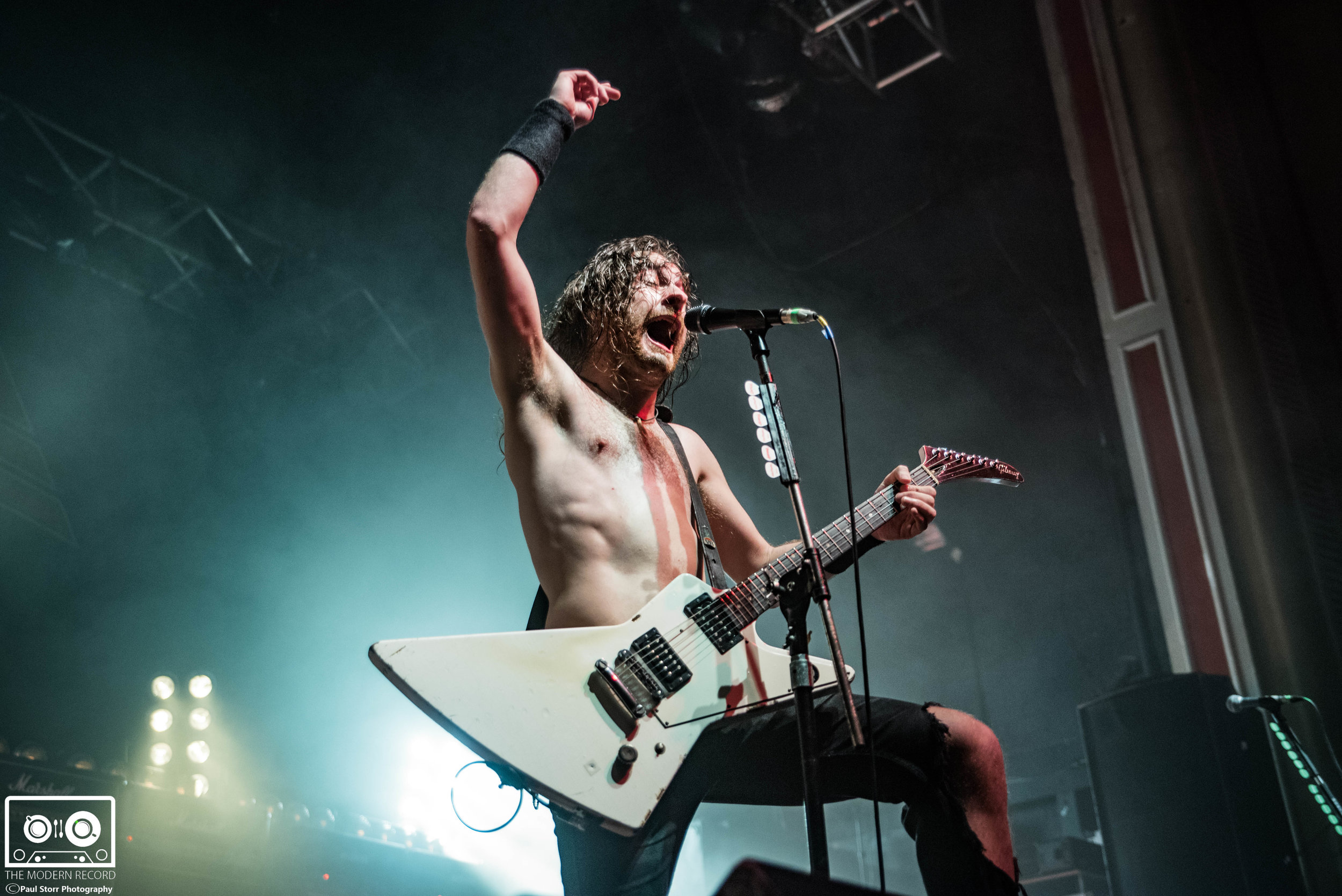 AIRBOURNE PERFORMING AT GLASGOW'S O2 ACADEMY - 13/11/2017  PICTURE BY: PAUL STORR PHOTOGRAPHY