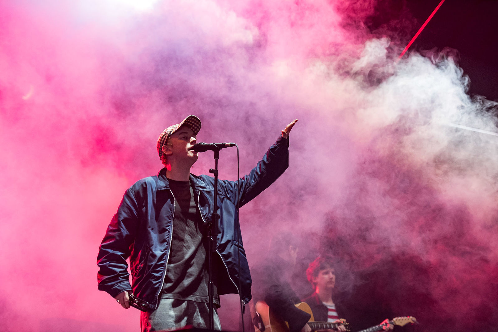 DMA'S PERFORMING ON THE BBC RADIO 1 STAGE AT FIRST DAY OF LEEDS FESTIVAL 2018 -24.08.2018  PICTURE BY: CAITLIN MOGRIDE