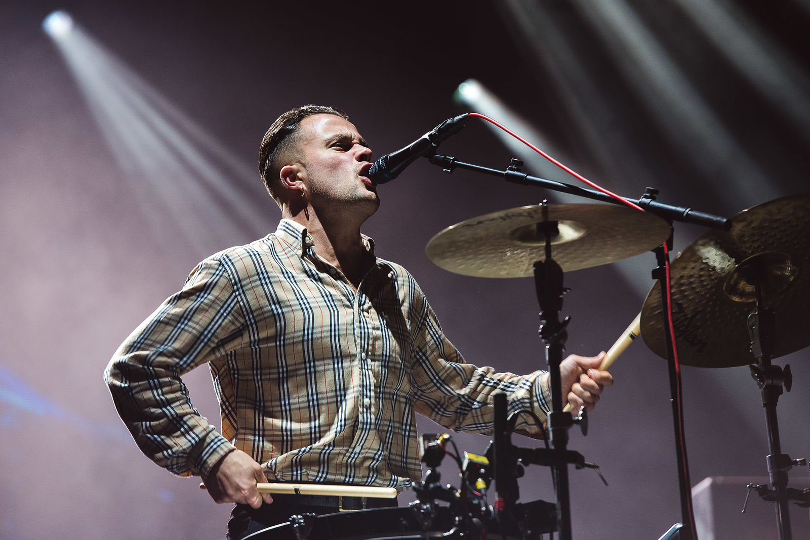 SLAVES PERFORMING ON BBC RADIO 1 STAGE AT LEEDS FESTIVAL 2018 - 24.08.2018  PICTURE BY: CAI DIXON