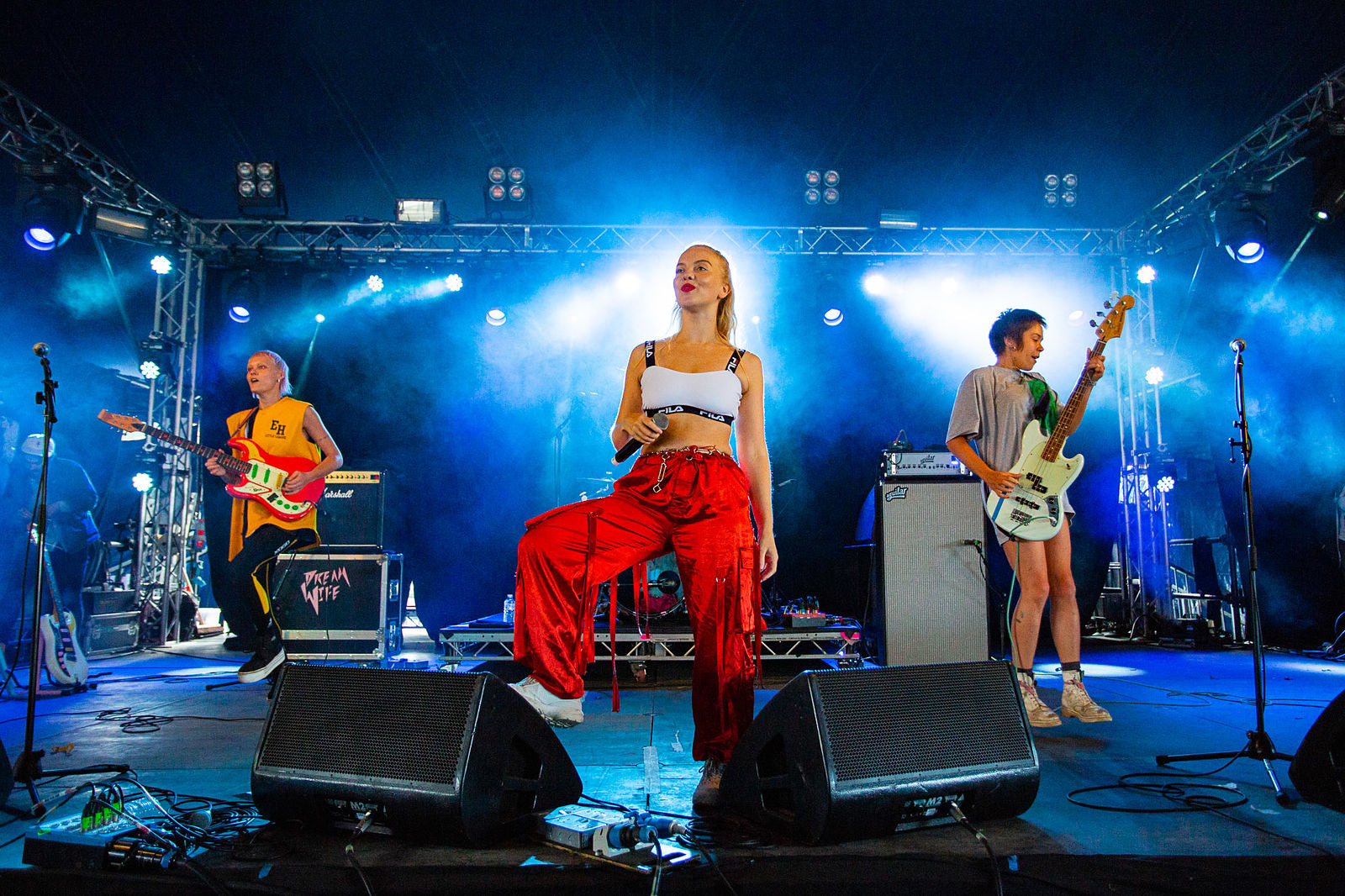 DREAMWIFE PERFORMING ON FESTIVAL REPUBLIC STAGE AT LEEDS FESTIVAL 2018 - 25.08.2018  PICTURE BY: ANDREW BENGE