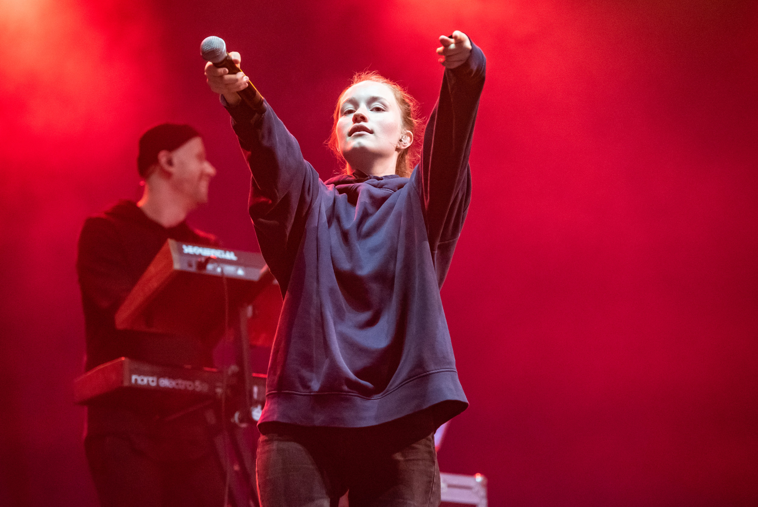 SIGRID PERFORMING ON BBC RADIO 1 STAGE ON THE LAST DAY OF LEEDS FESTIVAL 2018 - 26.08.2018  PICTURE BY: CALUM BUCHAN PHOTOGRAPHY