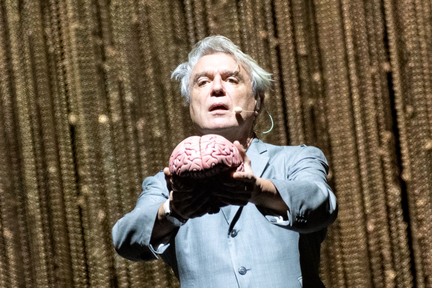 DAVID BYRNE PERFORMING AT GLASGOW'S SSE HYDRO - 22.10.2018  PICTURE BY: ROBERTO RICCUITI PHOTOGRAPHY
