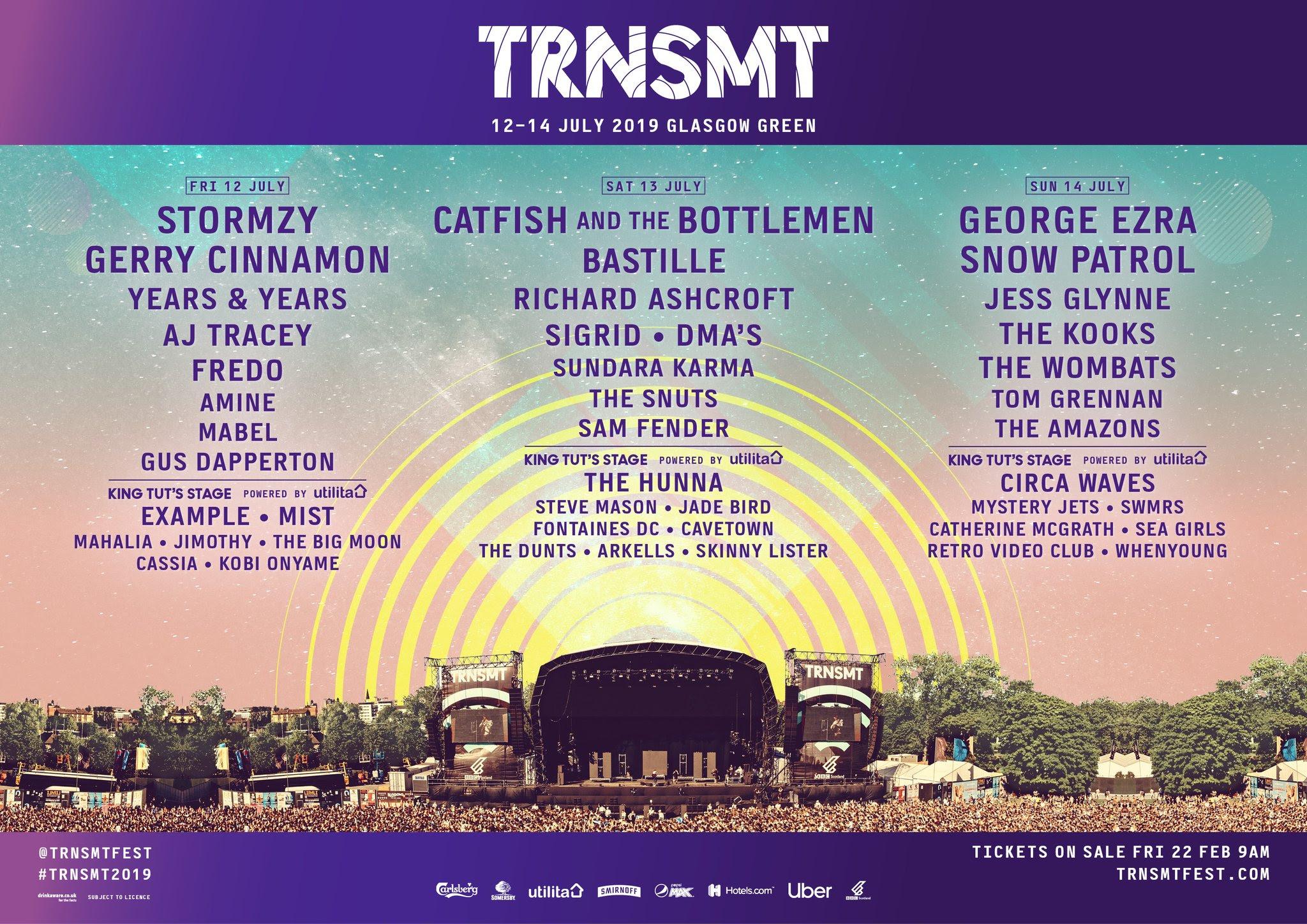 TRNSMT FESTIVAL - 2019 LINE-UP