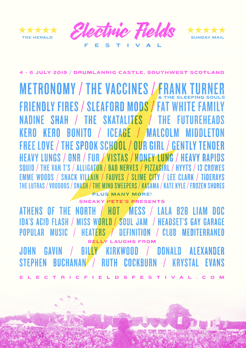 ELECTRIC FIELDS - LINE-UP: 2019