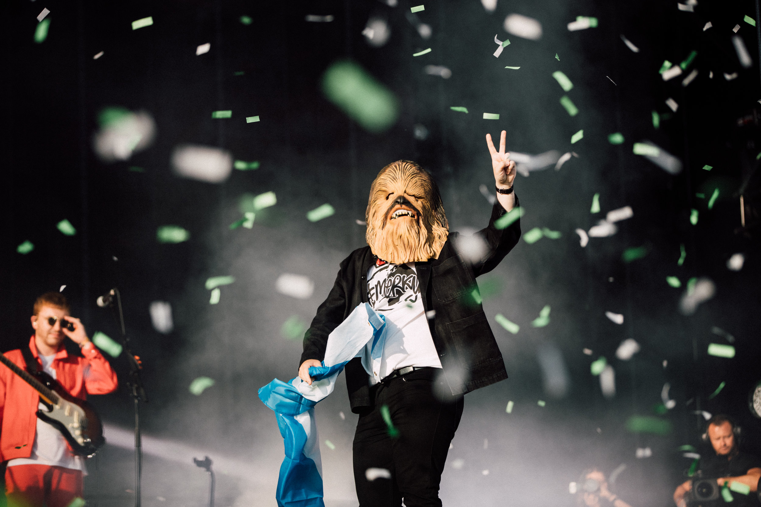 LEWIS CAPALDI APPEARING AS 'CHEWABACCA' COMING ON STAGE AT TRNSMT FESTIVAL 2019  PICTURE BY: RYAN BUCHANAN
