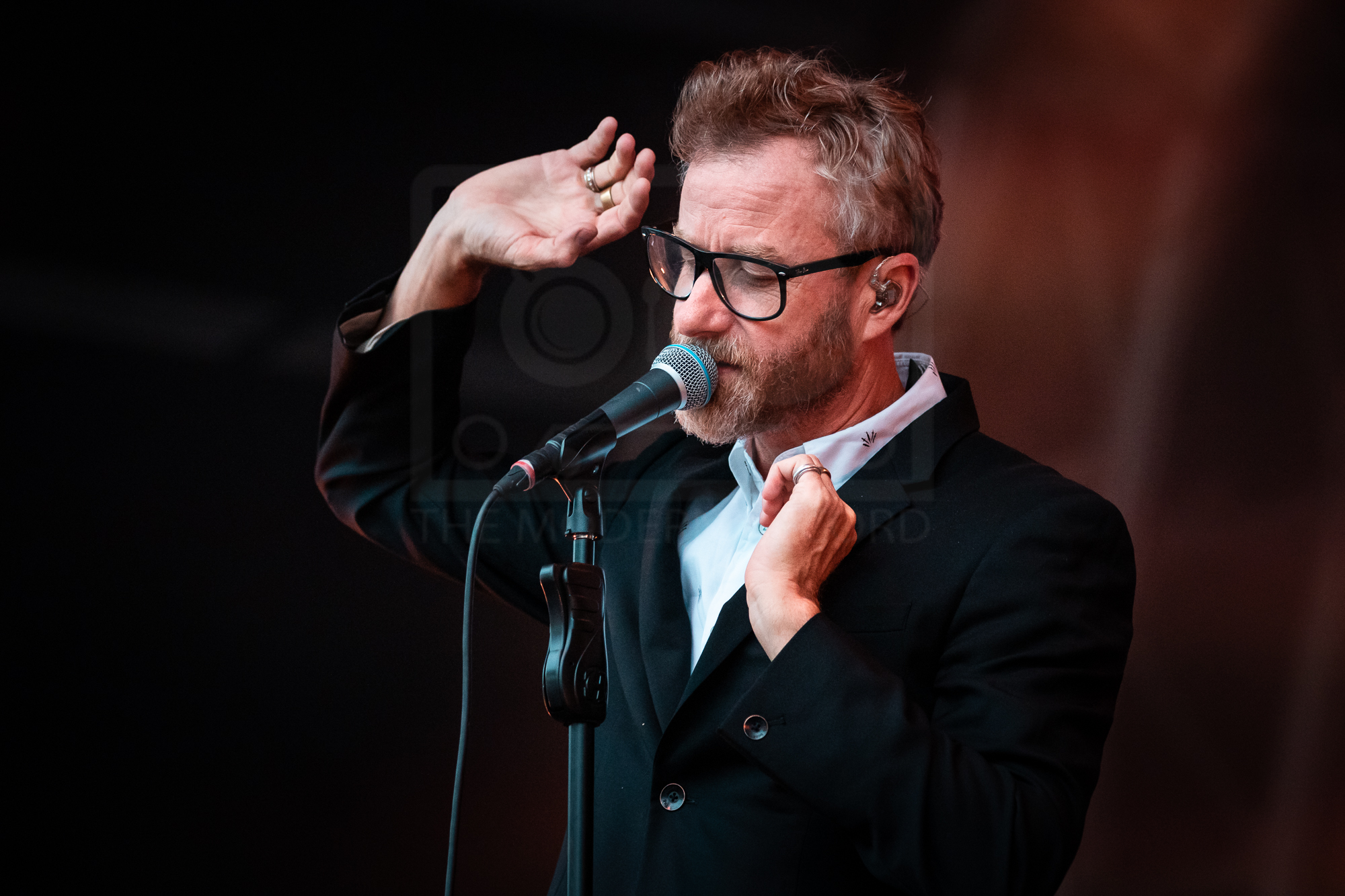 THE NATIONAL PERFORMING AT MANCHESTER'S CASTLEFIELD BOWL AS PART OF SOUNDS OF THE CITY  PICTURE BY: KENDALL WILSON