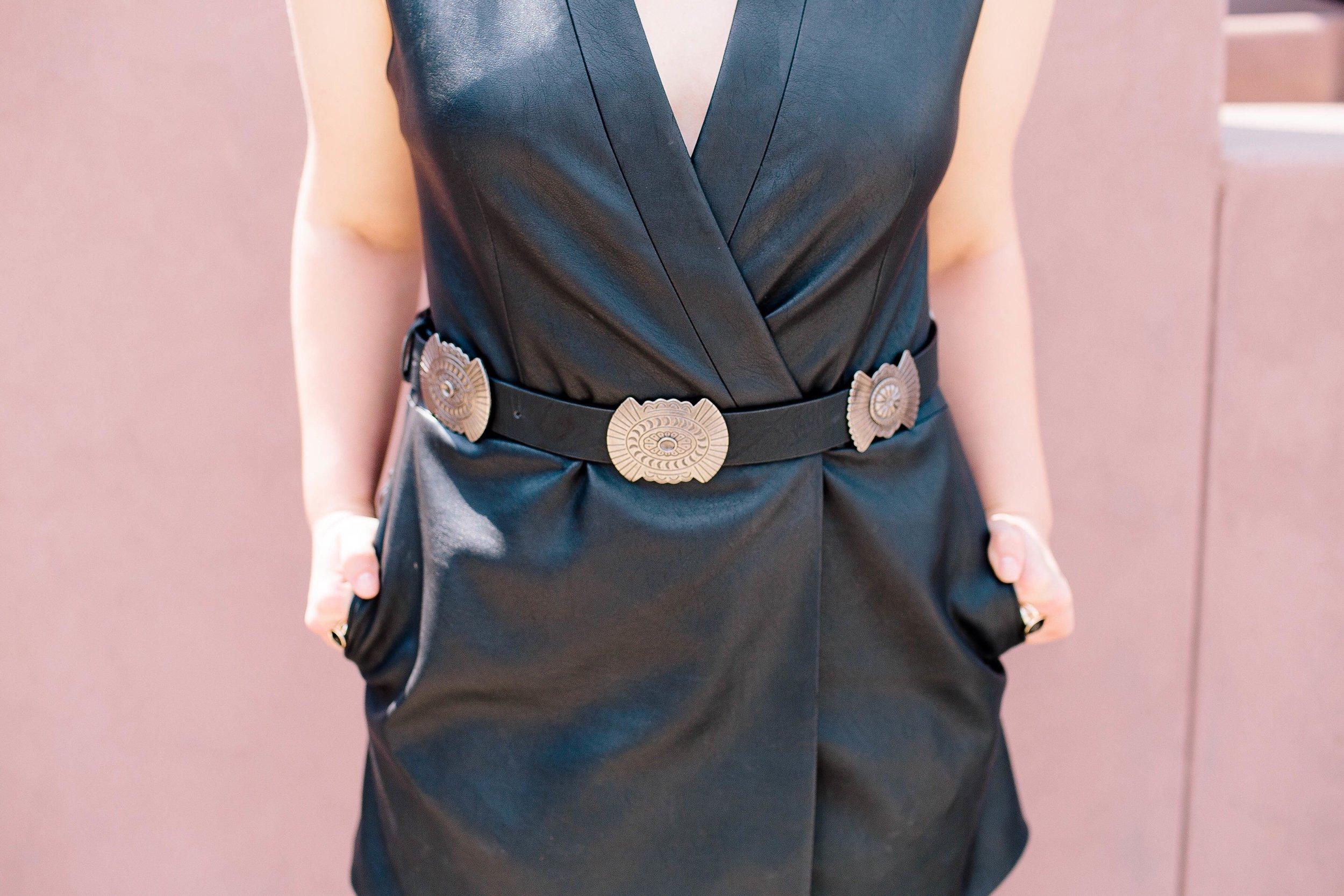 Booties  |  Belt  | Turquoise: Vintage