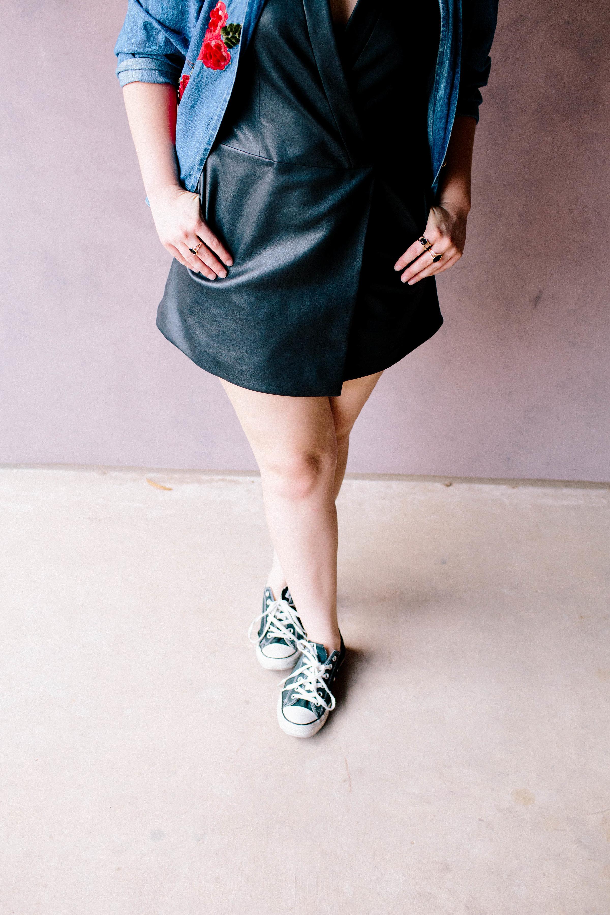 Shoes  | Jacket & Necklace: Vintage