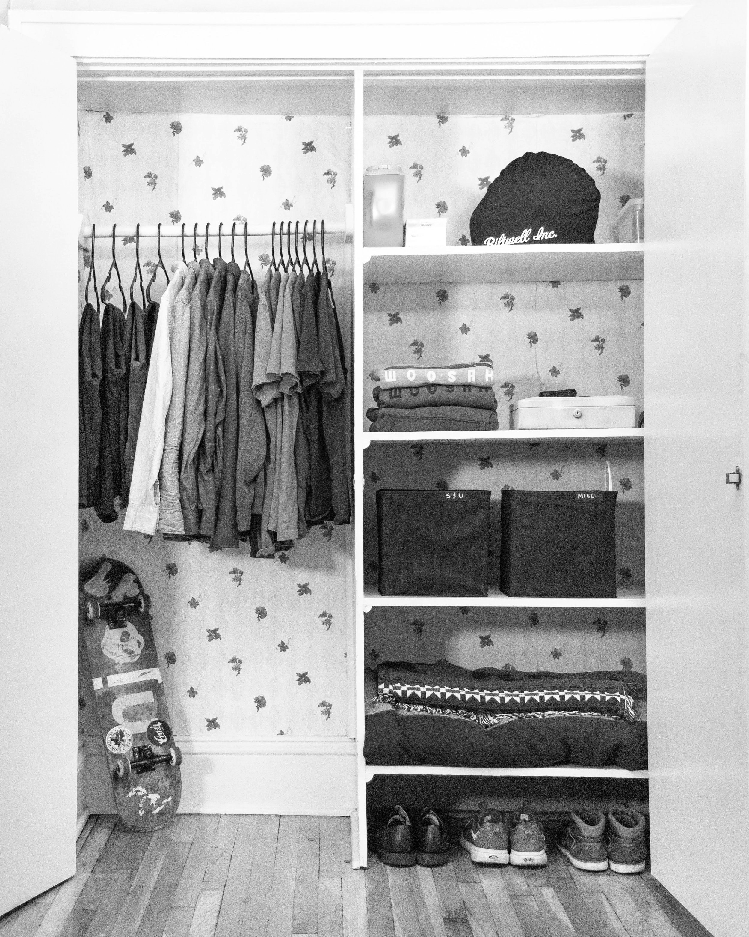 My closet at the end of 2018