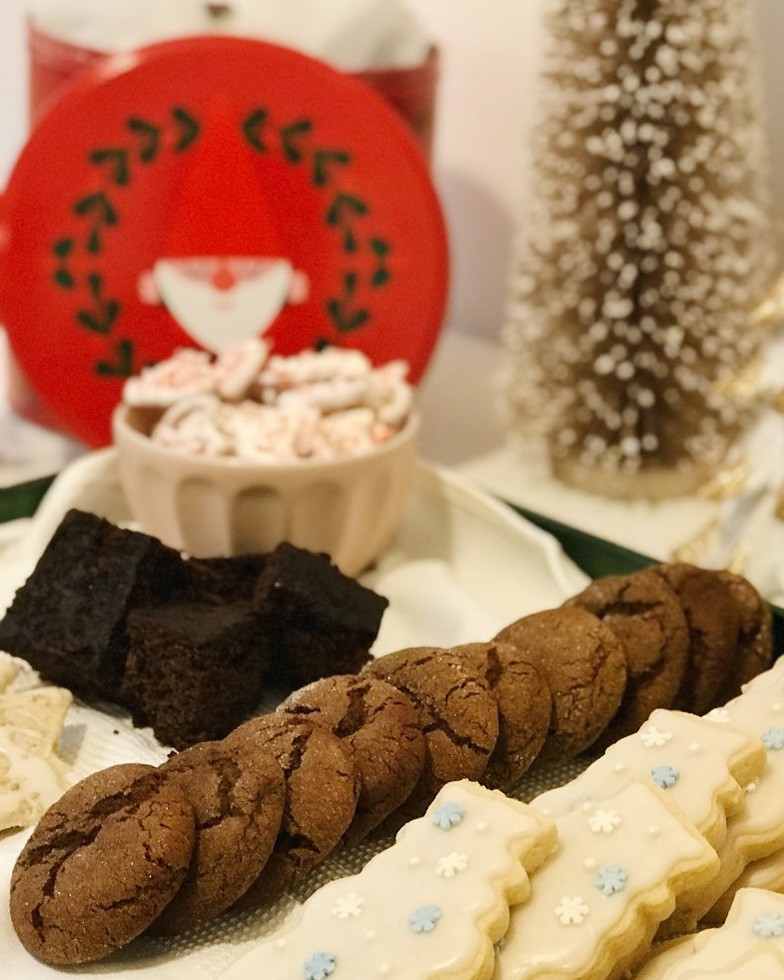 Gingerbread - I never know what to call this because it's more cakey than it is bready.My favourite way to enjoy gingerbread is warm with a side of peppermint ice cream. Peppermint ice cream isn't available here in the UK, which is a shame because it's a Larson family staple at Christmastime!