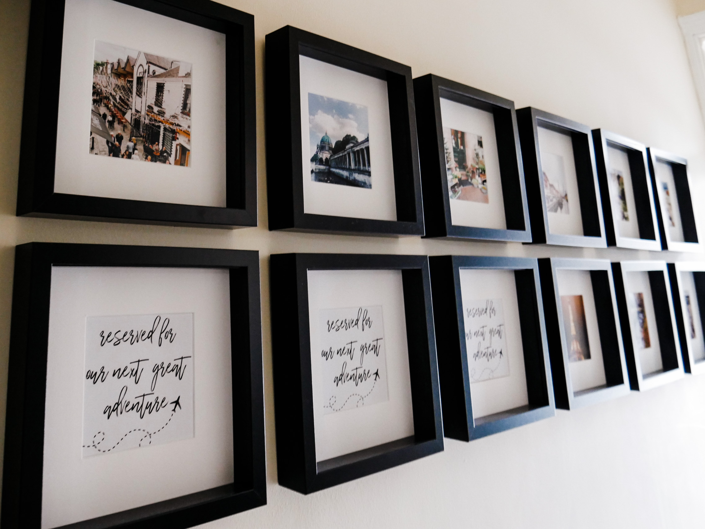 Home Tour - Gallery wall with photos from every country we've visited together