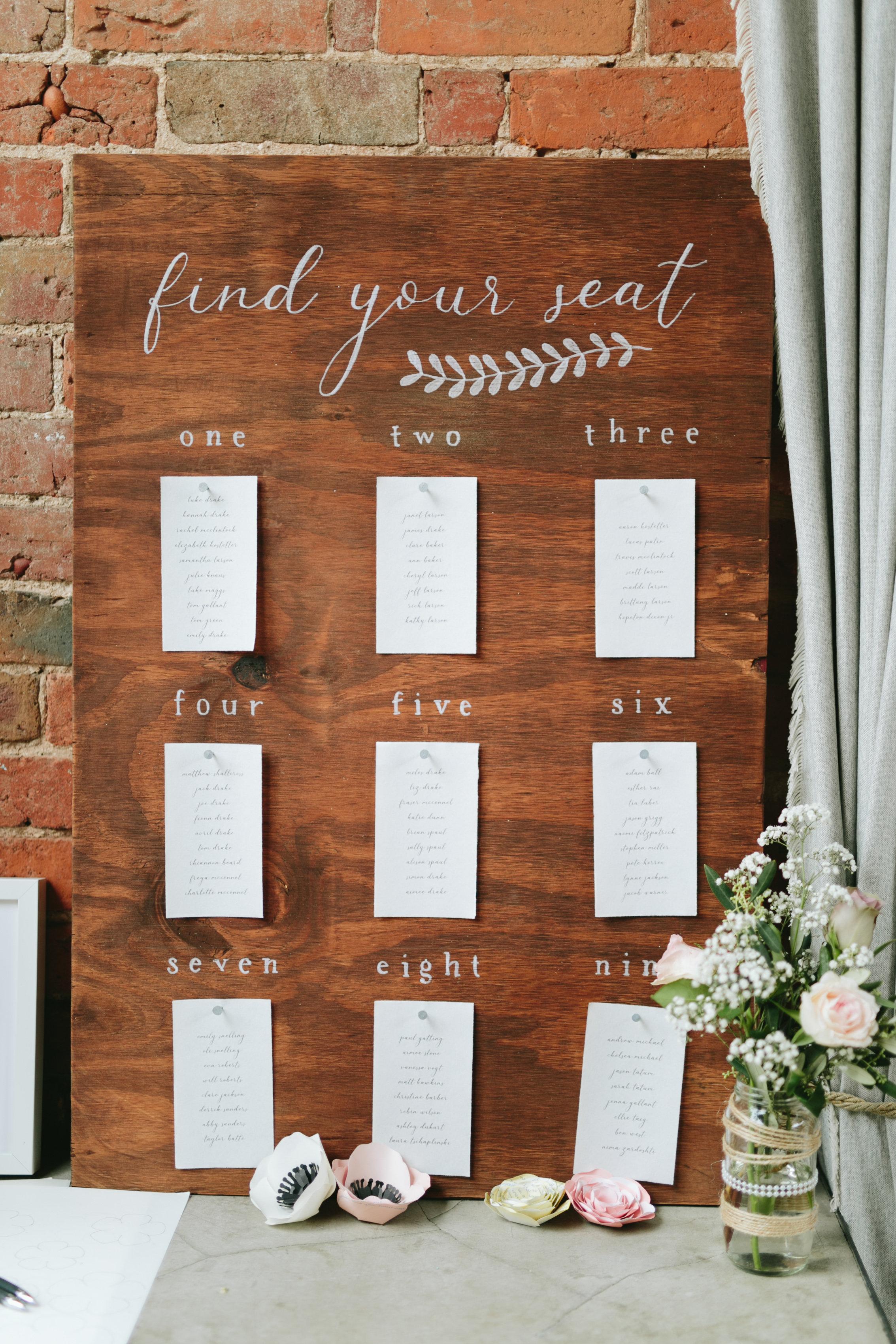 Wedding Decor - Seating Chart