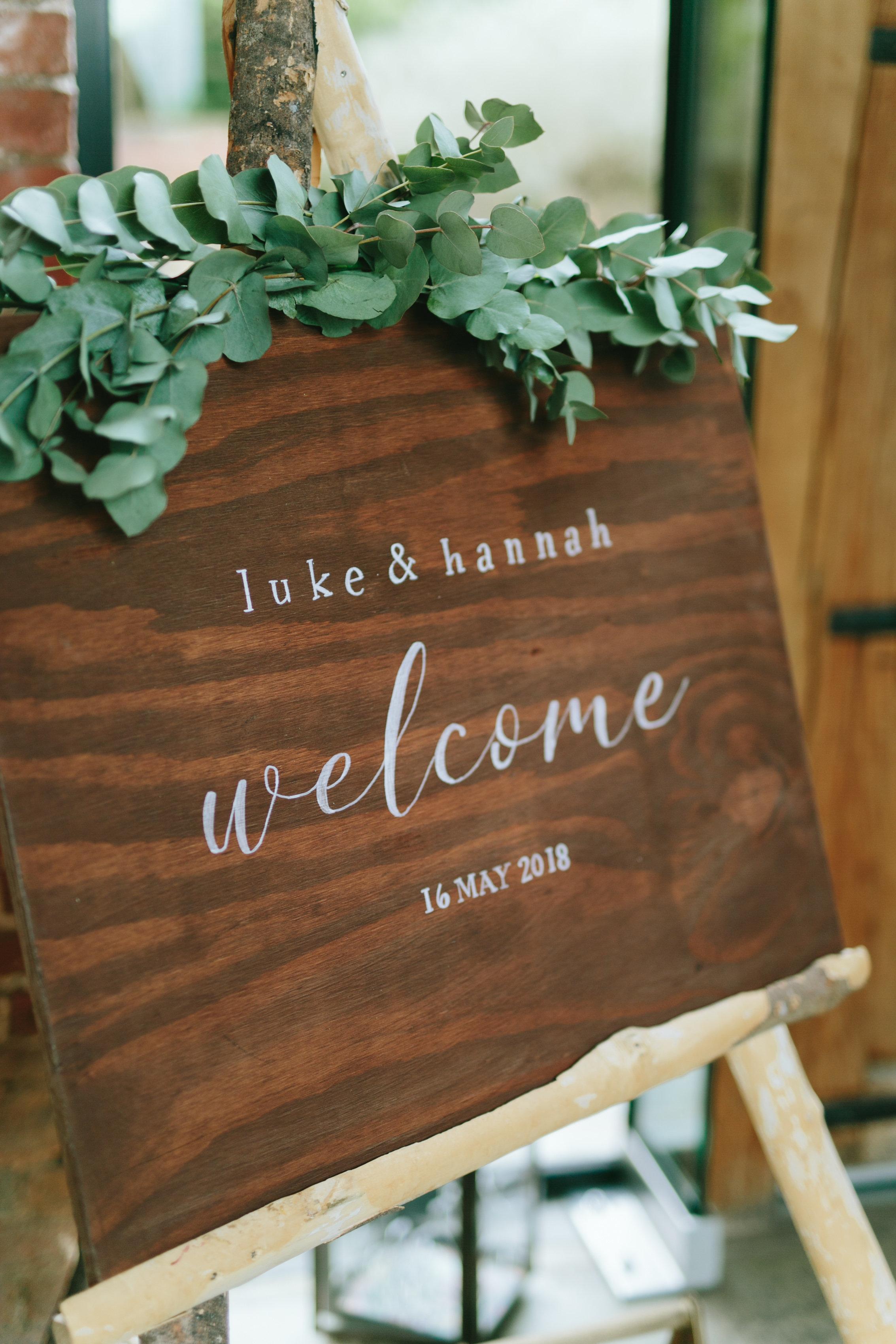 Wedding Decor - Welcome Sign
