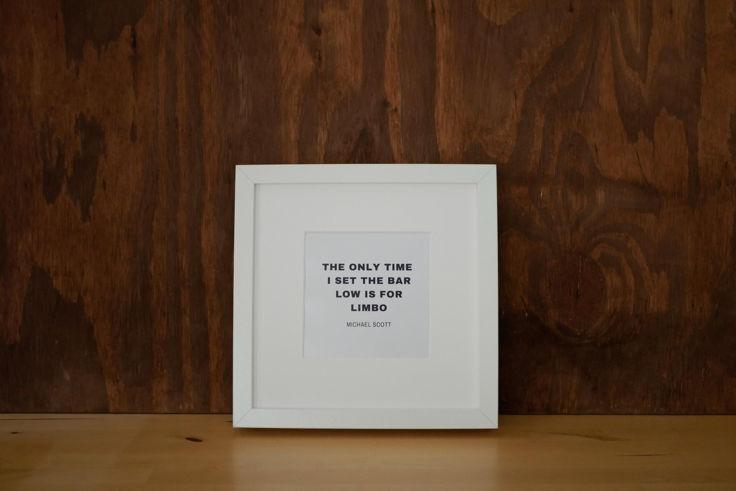 Limbo 8x8 - Shop Joy42 - The Office Artwork
