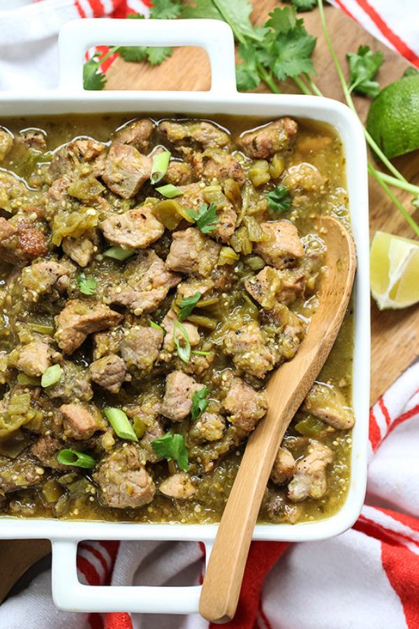 Slow Cooker Hatch Green Chili Verde - From Foodie CrushWhy You Should Make It: Green chili is DELICIOUS and you can eat this over rice or as tacos.