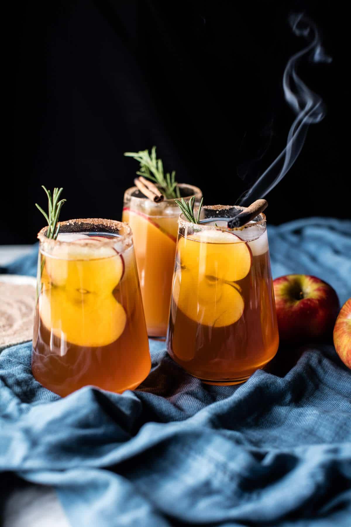 Smoky Harvest Apple Cider Margaritas Half Baked Harvest