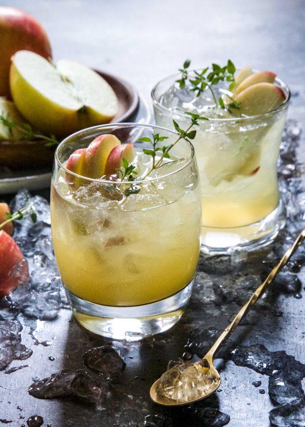 Honeycrisp & Apple Cider Bourbon Shrub Climbing Grier Mountain