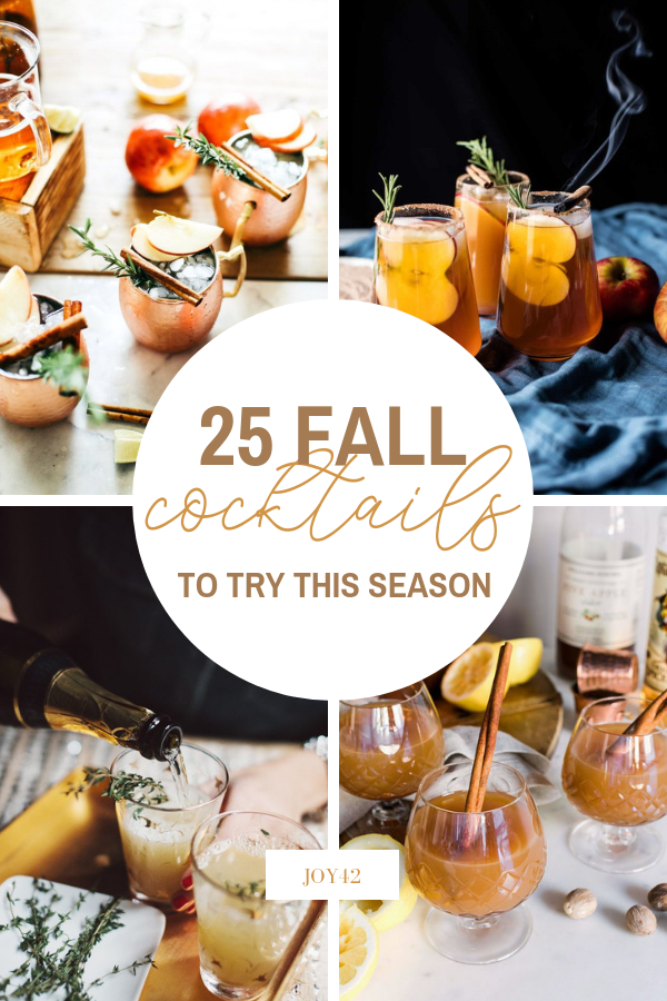 25 Fall Cocktails to Try This Season
