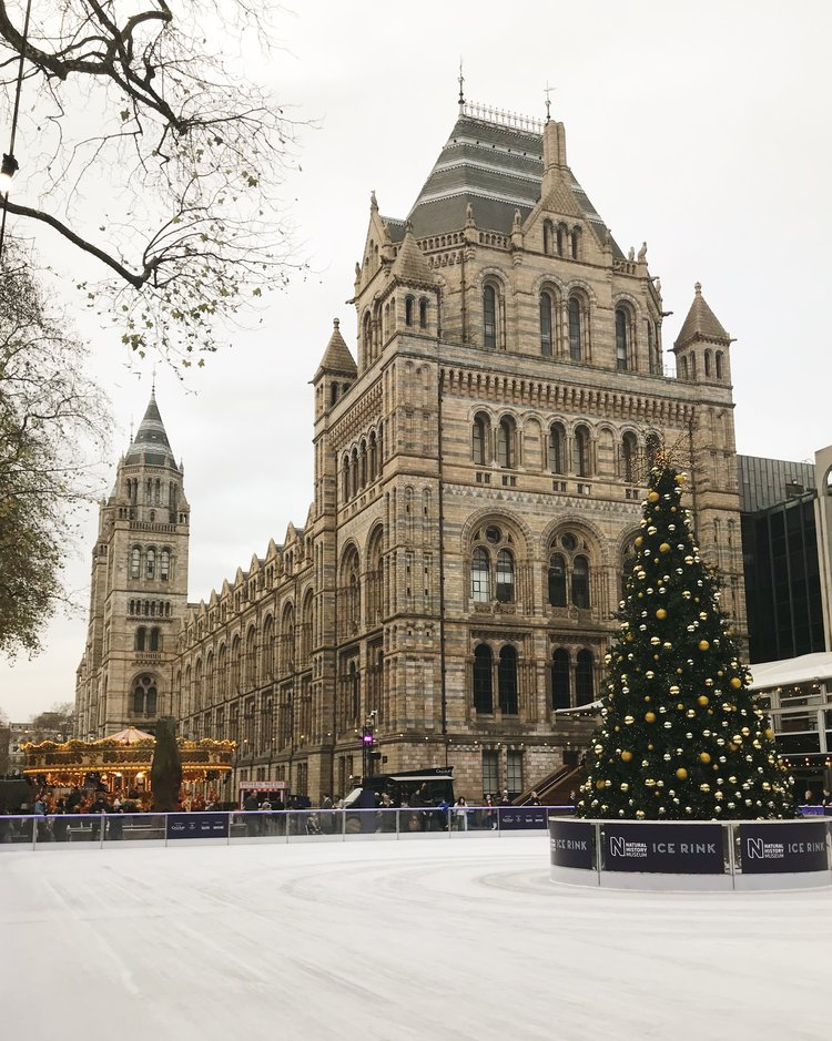 6 Things to Do in London at Christmastime - Natural History Museum Ice Rink