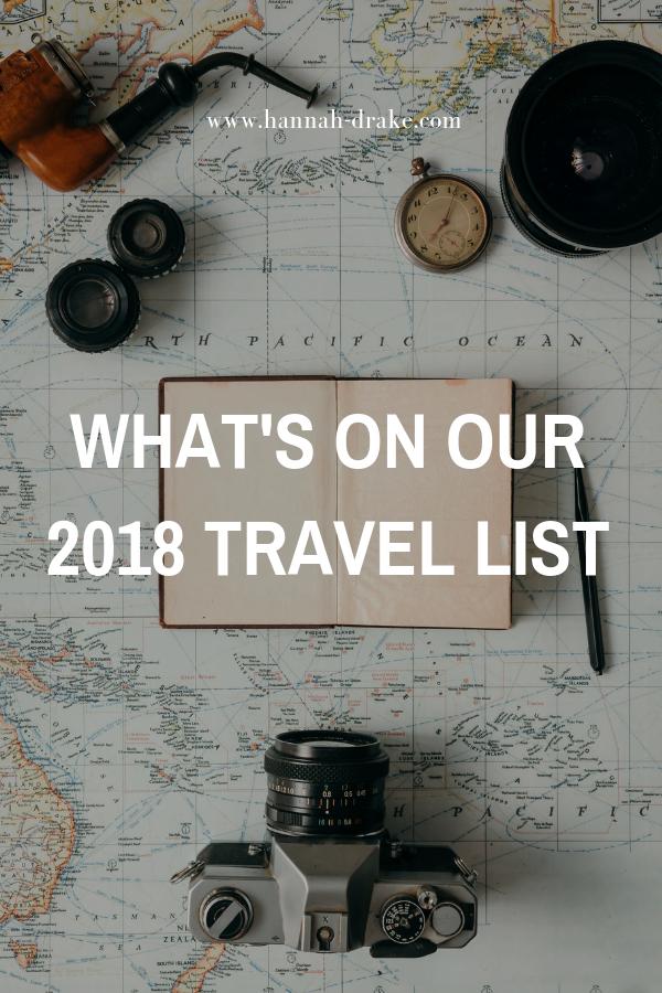 2018 Travel List