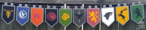 Game of Thrones House Sigils Banner