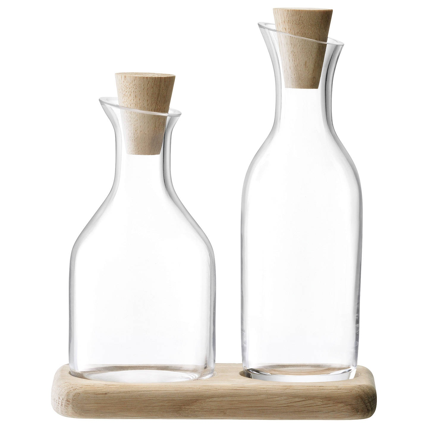 - This oil and vinegar set lives by our hob and I'm in love with it. It's so beautiful, and while it doesn't hold a lot of volume, it's really practical for us. They pour better than the bottles oil and vinegar come in and are great if we're serving a simple salad at a dinner party.