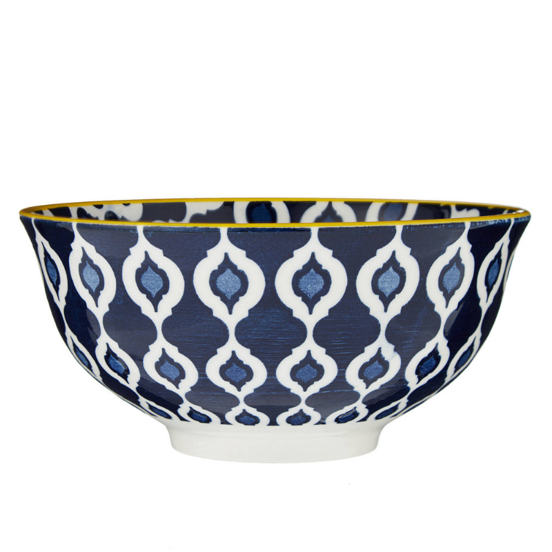 - We registered for four ramen bowls, two this dark blue pattern and two a simpler grey pattern. You know we love soup and I've always been a fan of soup bowls. Sadly, one of our blue bowls was the first (and so far only) thing to break from our wedding gifts, so we're down to three now because they discontinued both patterns. Regardless, we still use them just about every Wednesday night!