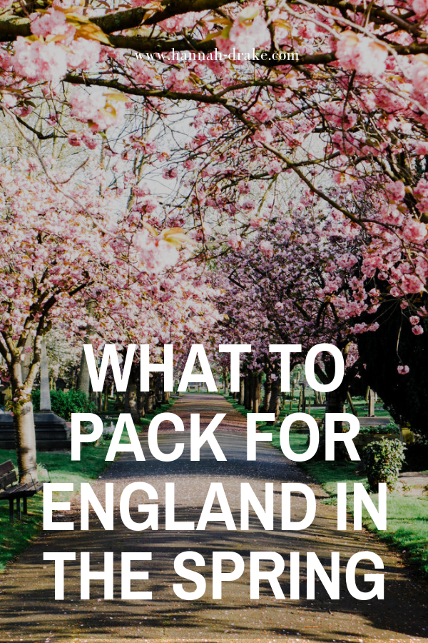 What to Pack for England in the Spring