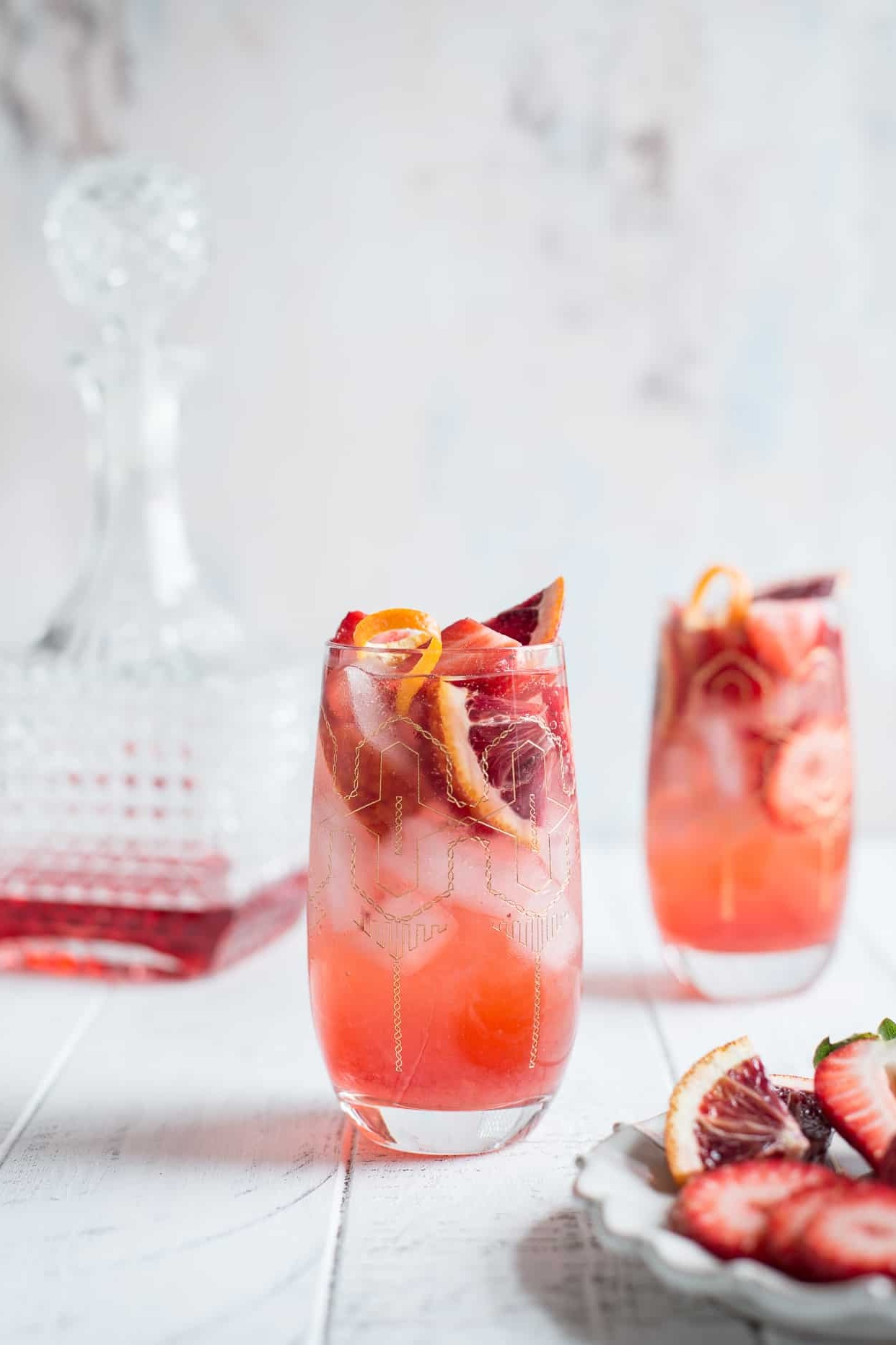Strawberry Campari Gin Spritz from One Sweet Mess
