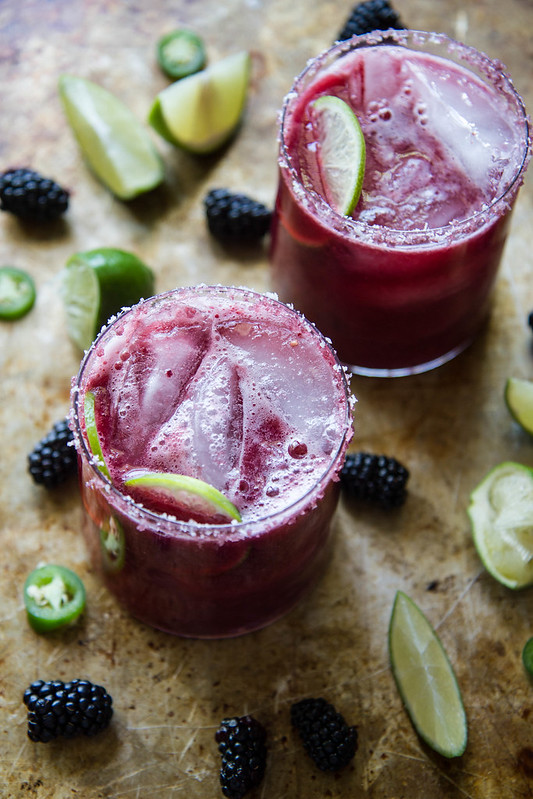 Blackberry Jalapeno Margaritas from Heather Christo
