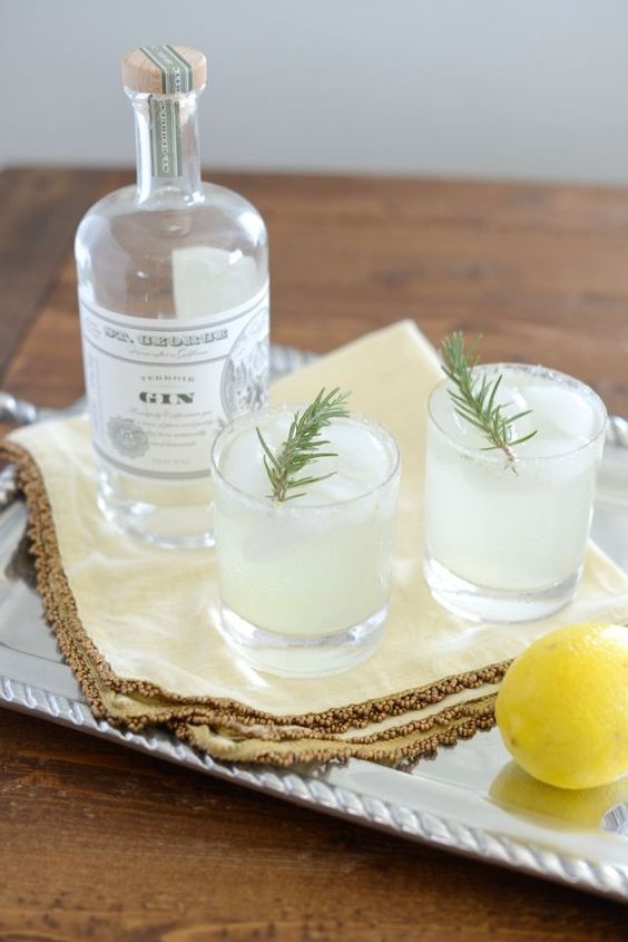 Lemon Rosemary & Cucumber Gin Cocktail from M Loves M