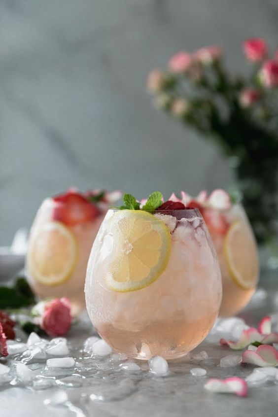 Rosé Lemonade Elderflower Sangria from Spices in My DNA
