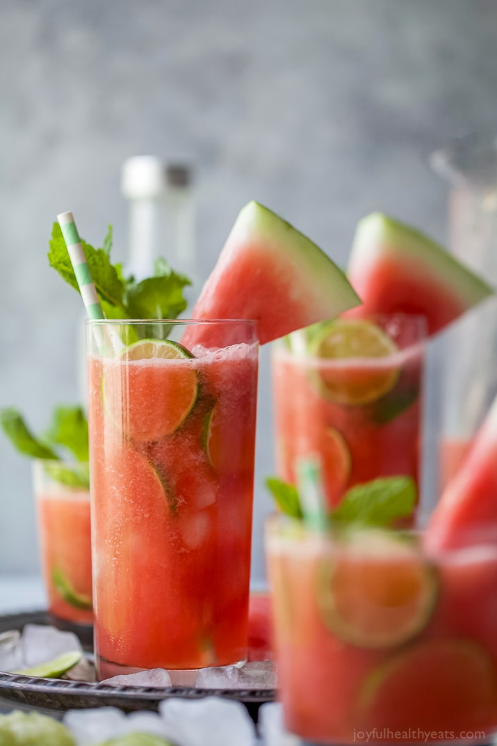 Vodka Watermelon Cocktail from Joyful Healthy Eats