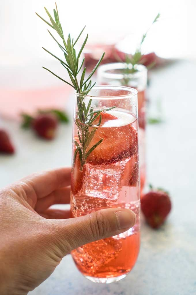 Sparkling Strawberry Sangria from The Happier Homemaker