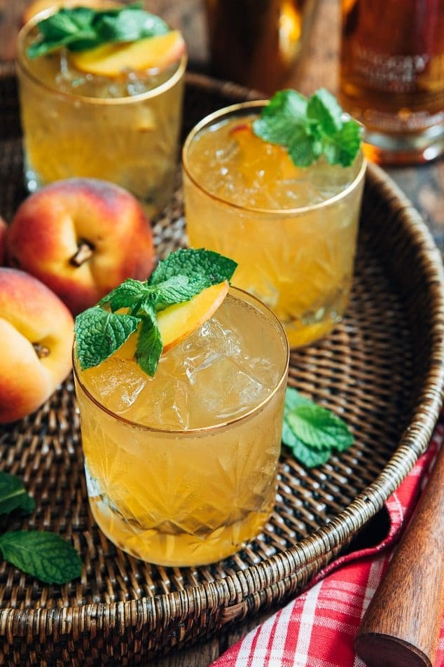 Bourbon Peach Smash from Striped Spatula