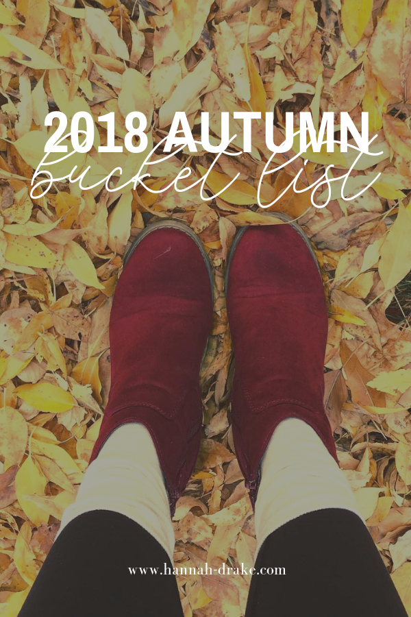 2018 Autumn Bucket List