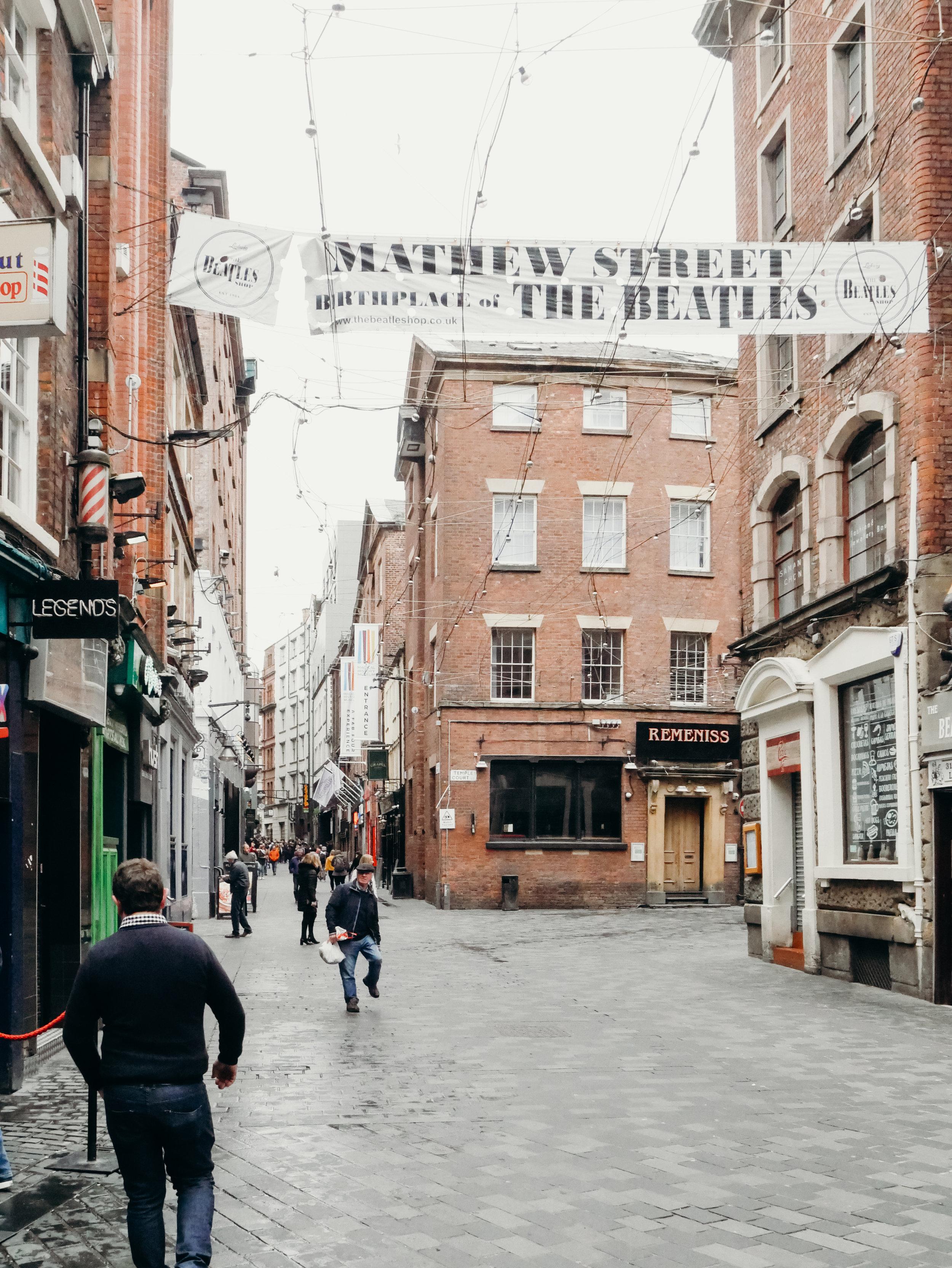 Matthew Street Liverpool