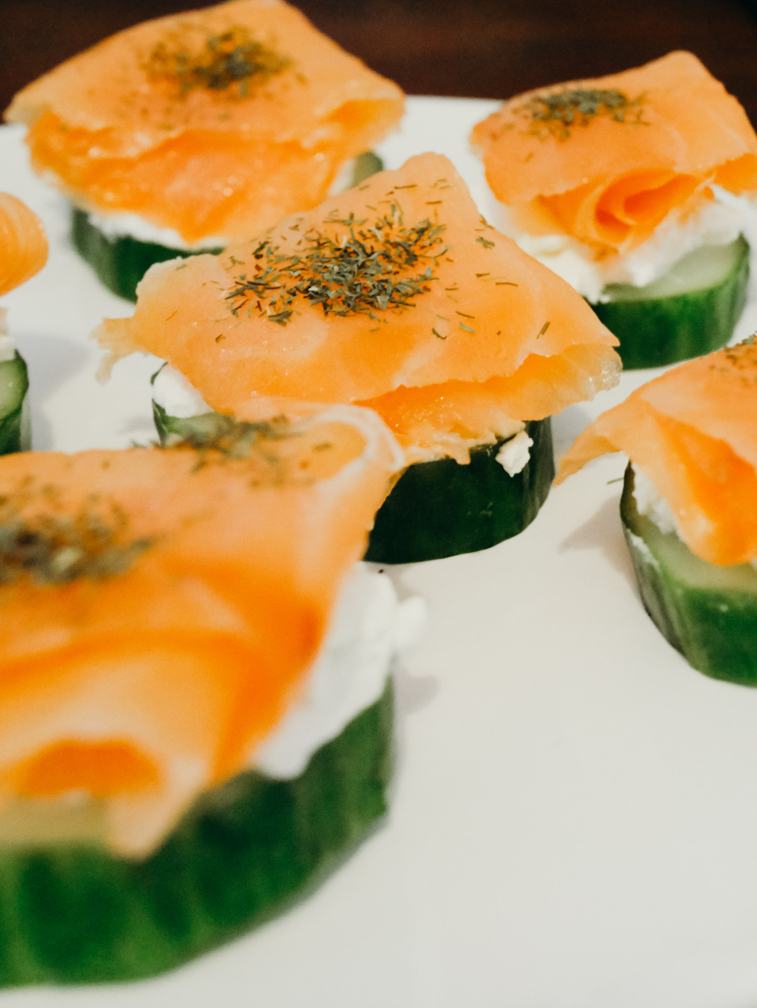 Cucumber Salmon Rounds