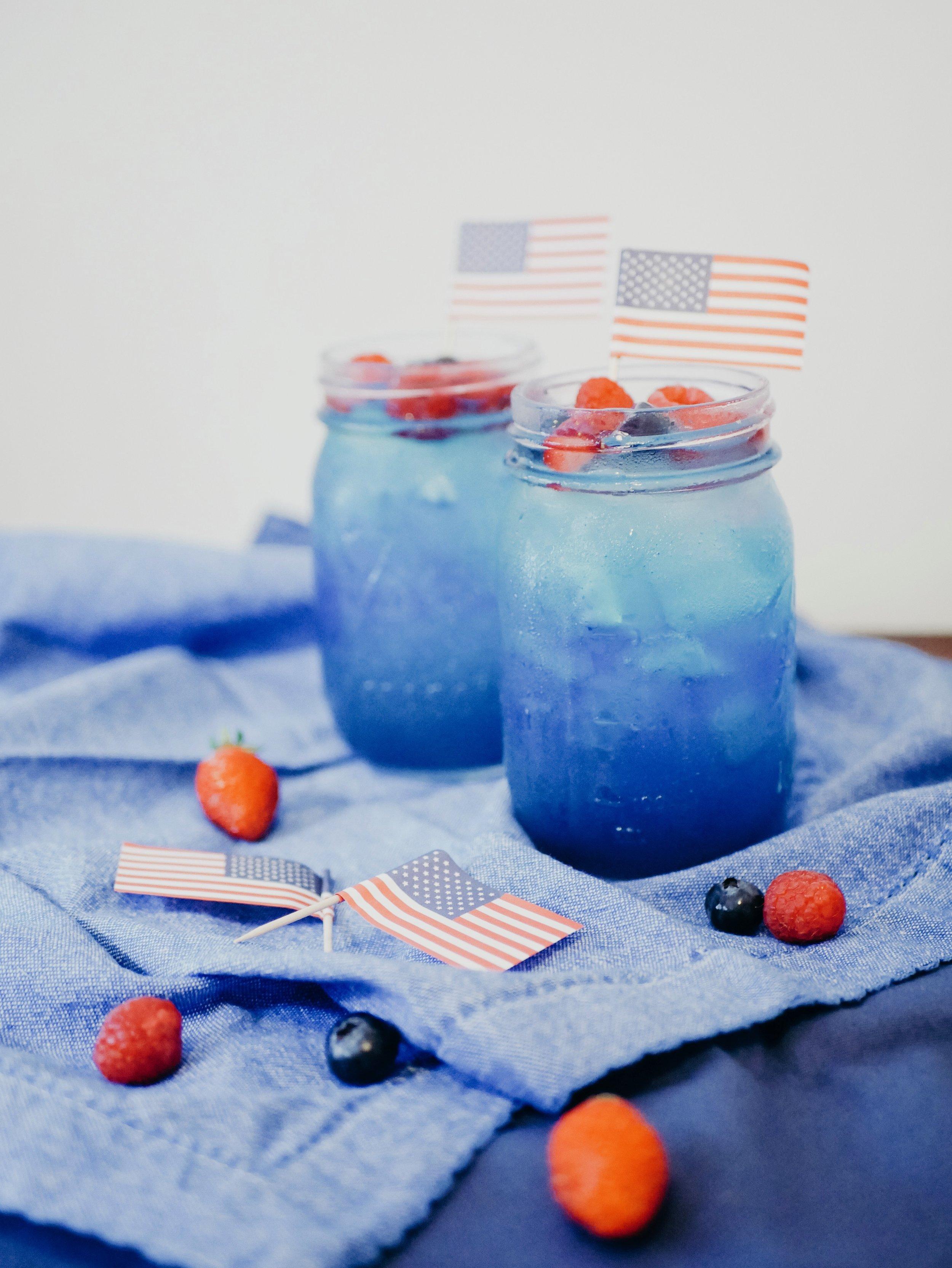 Red, White, & Blue Raspberry Lemonade