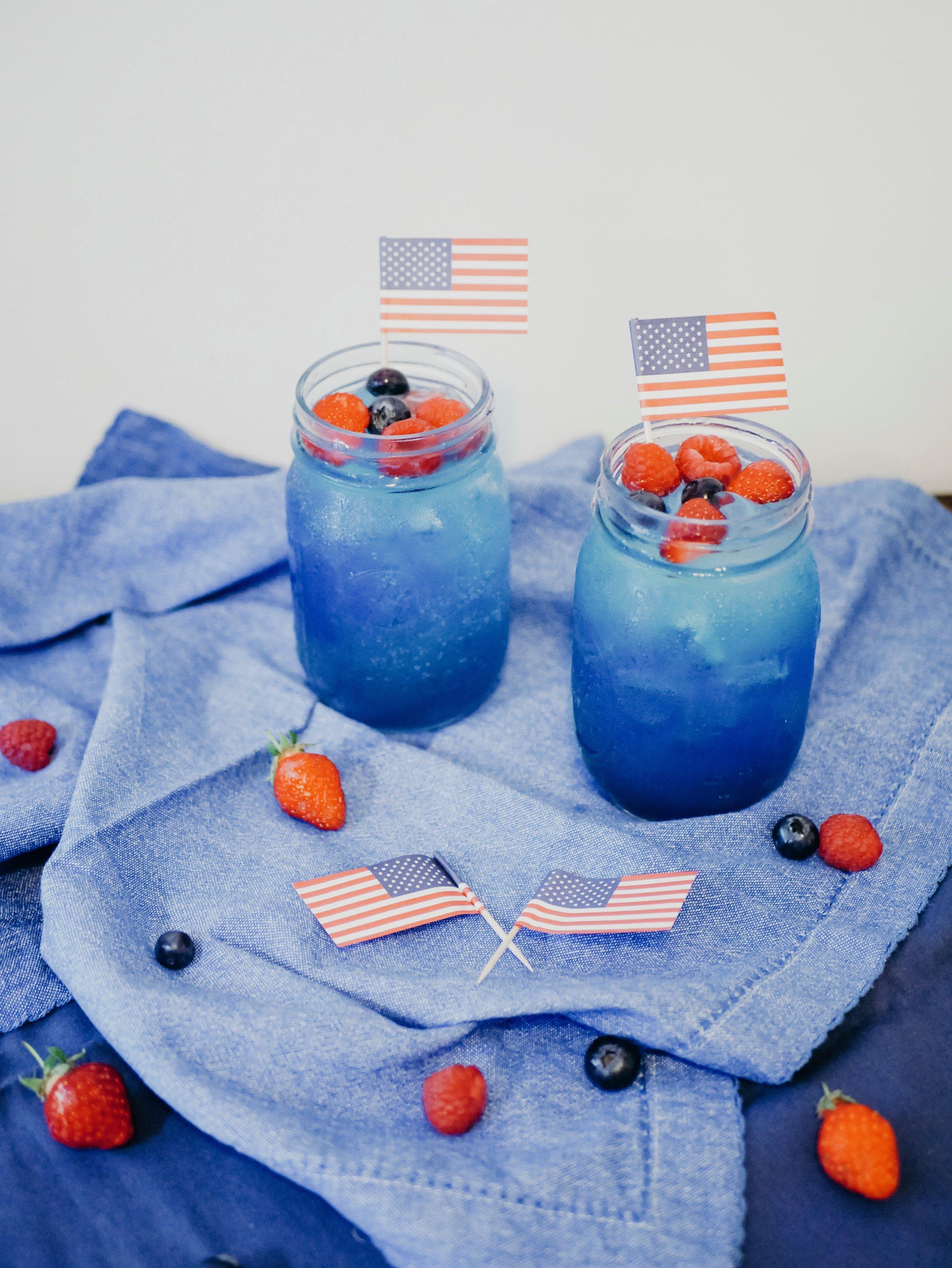 Red, White, and Blue Raspberry Lemonade
